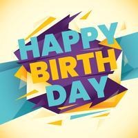 Birthday card vettore