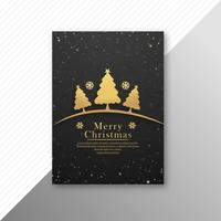 Beautiful colorful marry christmas party flyer template design v