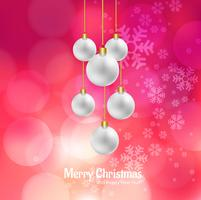 Beautiful merry christmas card decorative background vettore