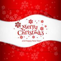 Merry christmas celebration card design vector