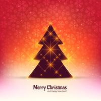 Merry christmas tree celebration background vettore