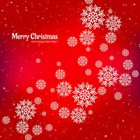 Snowflake decorative merry christmas card background vettore
