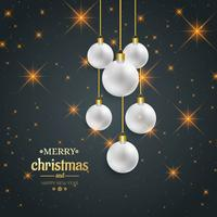 Bello fondo decorativo della palla di Buon Natale vettore