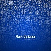 Fondo allegro decorativo della cartolina di Natale del fiocco di neve vettore