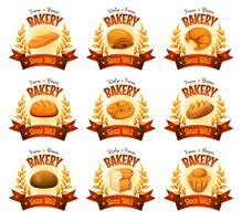 Banner negozio di panetteria con pane e torte