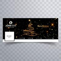 Buon albero di Natale con il modello di banner di facebook