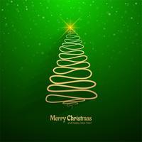 Fondo dell'albero di linea minima di Buon Natale vettore