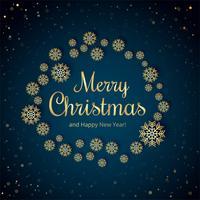 Bello fondo della carta del fiocco di neve di Buon Natale vettore
