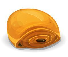 Icona di pane al cioccolato francese vettore