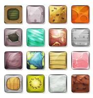 Pulsanti e icone impostate per l'app mobile e l'interfaccia utente del gioco