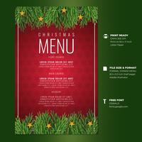 Modelli di carta del menu cena di auguri di Natale