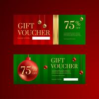 Modelli di voucher regalo di Christmas Ball