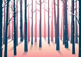 sfondo di boschi foresta invernale vettore