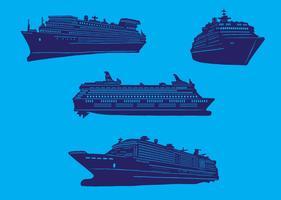 Set di navi da crociera vettore