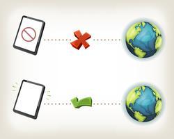 icone di connessione internet vettore