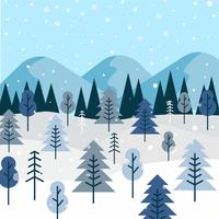 vettore di foresta invernale