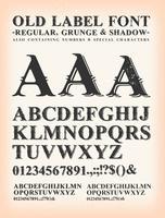 vintage old label carattere occidentale