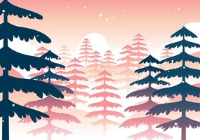 Paesaggio della foresta invernale