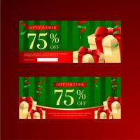 Modelli di voucher regalo di Natale