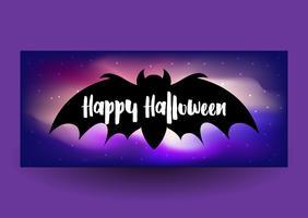 Design di banner di Halloween vettore