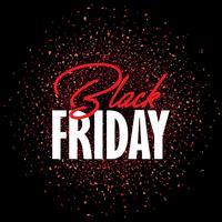Fondo di vendita di Black Friday con i coriandoli