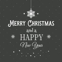 Sfondo di testo decorativo di Natale