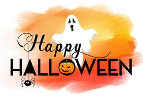 Priorità bassa di Halloween con struttura dell'acquerello vettore