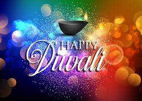 Sfondo colorato Diwali vettore