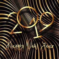 Felice anno nuovo sfondo con design striscia deformato