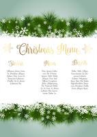 Design del menu di Natale