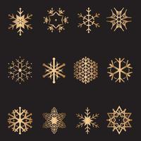 Raccolta di fiocchi di neve di Natale vettore