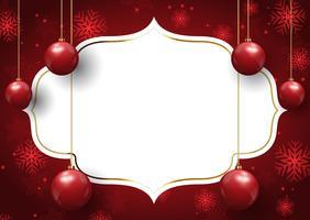 Sfondo di gingillo di Natale vettore