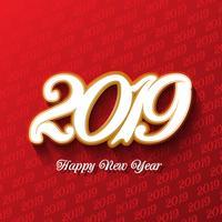 Sfondo decorativo felice anno nuovo vettore