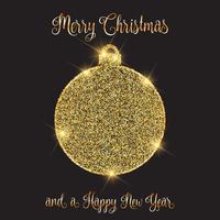 Sfondo di Natale e Capodanno con design gingillo glitterato vettore