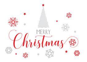Sfondo di testo decorativo di Natale vettore