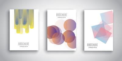 Modelli di brochure con disegni astratti