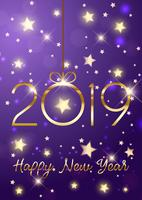 Felice anno nuovo sfondo con lettere d'oro vettore