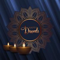 Sfondo decorativo Diwali vettore