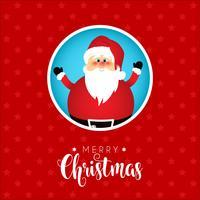 Sfondo di Natale con un simpatico disegno di Babbo Natale