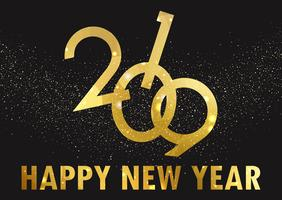 Golden Happy New Year background vettore