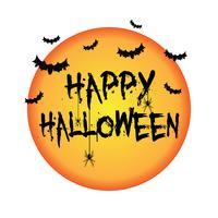 Sfondo di Halloween con pipistrelli e ragni vettore