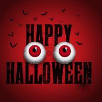 Sfondo di Halloween con i bulbi oculari spettrali vettore
