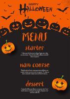 Disegno del menu di Halloween vettore