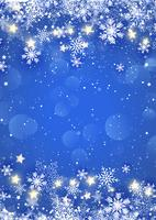 Fiocchi di neve di Natale e stelle vettore