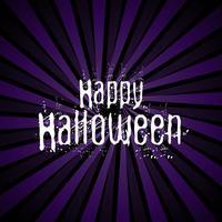 Felice sfondo di Halloween con lettering grunge vettore