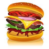 grande hamburger di pancetta
