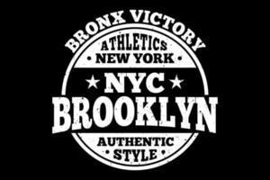t-shirt tipografia brooklyn autentica vittoria del bronx vettore