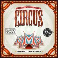 Poster di circo quadrato grunge vettore