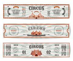 Modelli di banner sito Web di circo d'epoca vettore