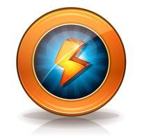 Badge di icone lampo per gioco Ui